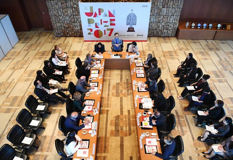 Reunión de jurados del Japan Prize 2017.
