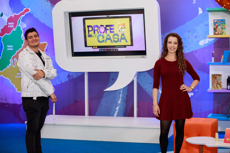 Aprende en casa: Camila y Samuel son los anfitriones de Profe en tu casa