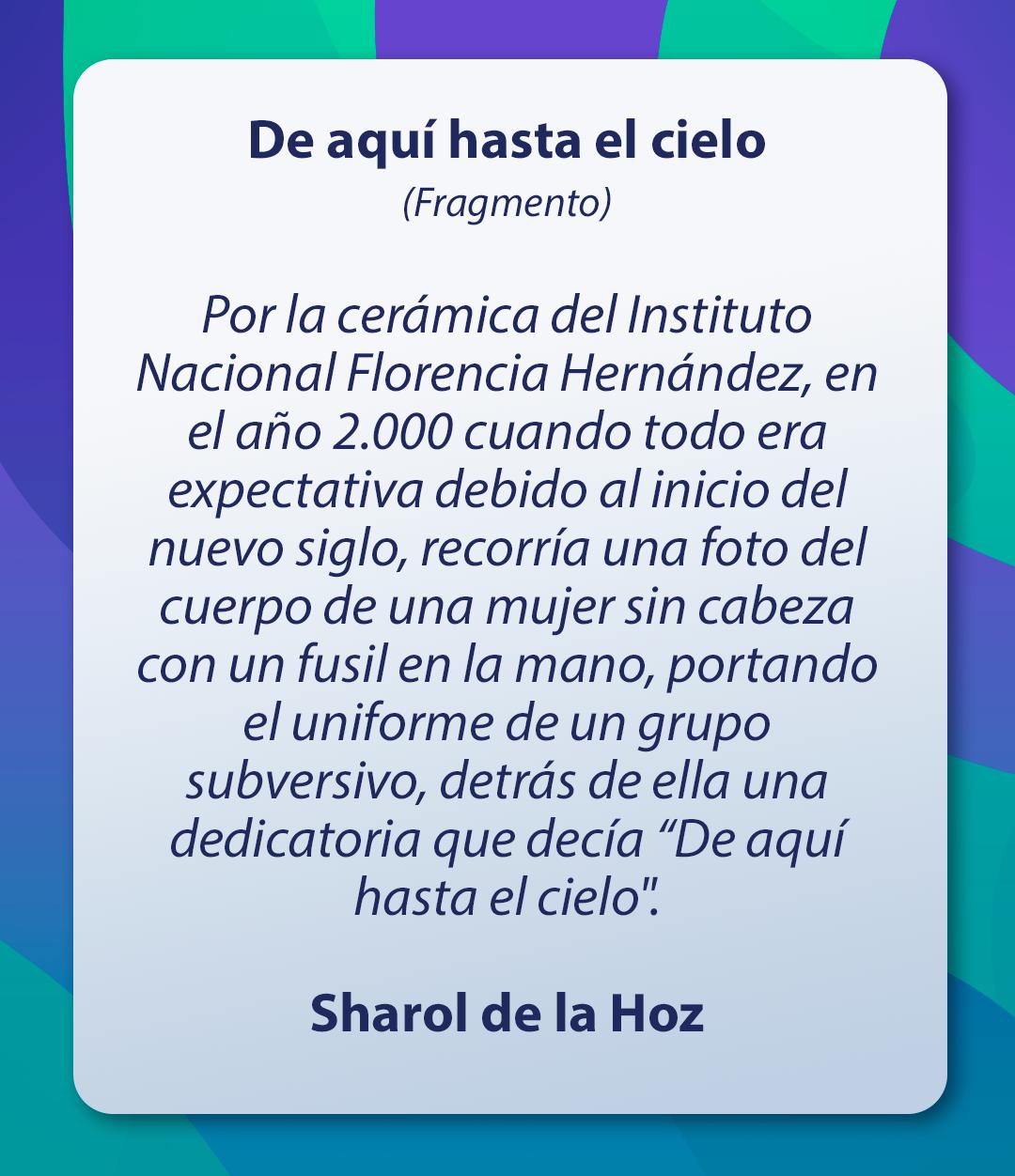Cuento Sharol de la Hoz