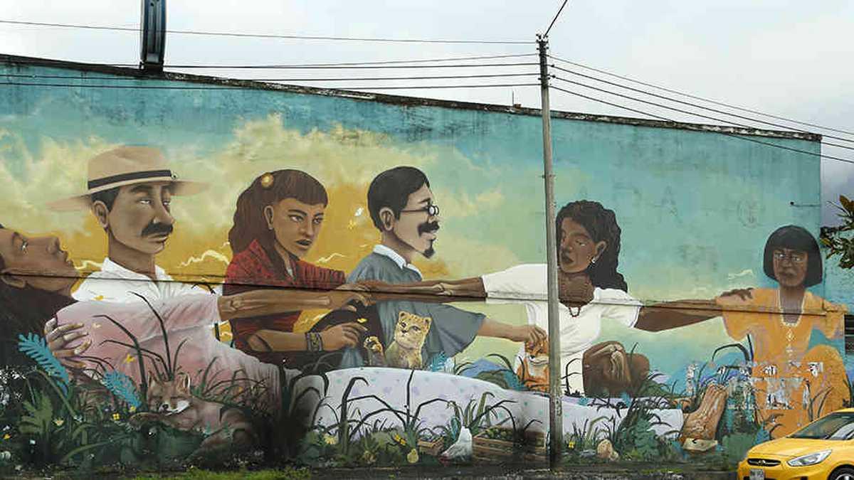 Grafiti en Colombia - Mural de la reconciliación en la Calle 26