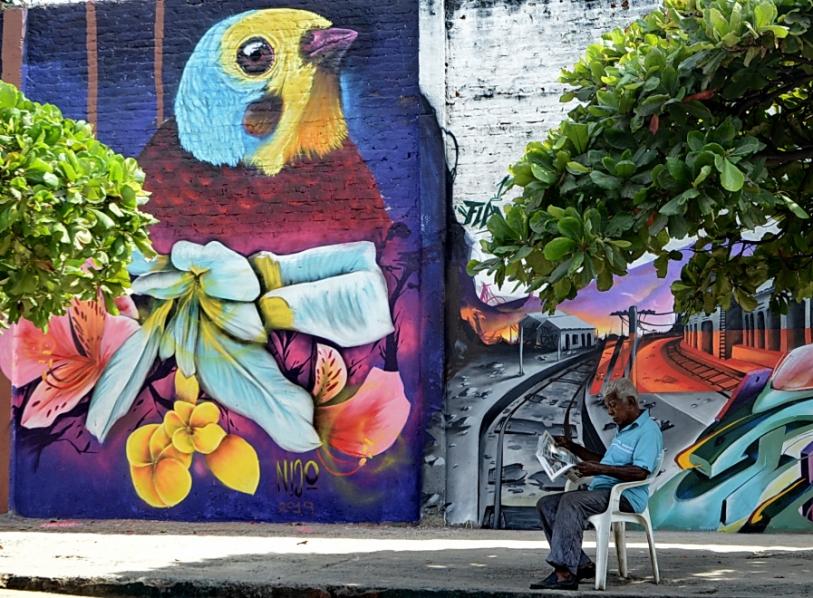 Grafiti en Colombia - Murales en el barrio obrero de Calo