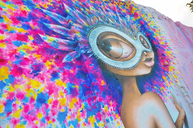 Grafiti en Colombia - Mural en Barranquilla inspirado en el Carnaval