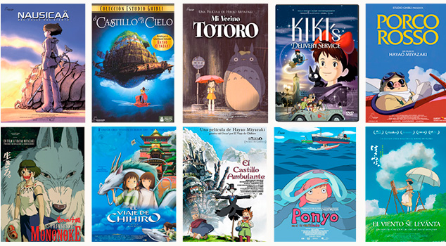 Películas Hayao Miyazaki