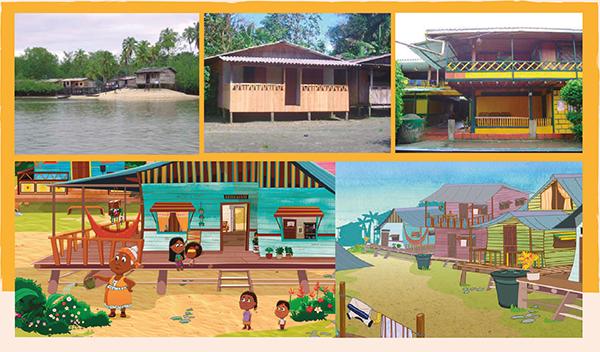 Casas de palafito del Pacífico en las que se inspiran las de la serie Guillermina y Candelario