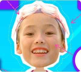 Nado sincronizado - imágenes de deportes para niños