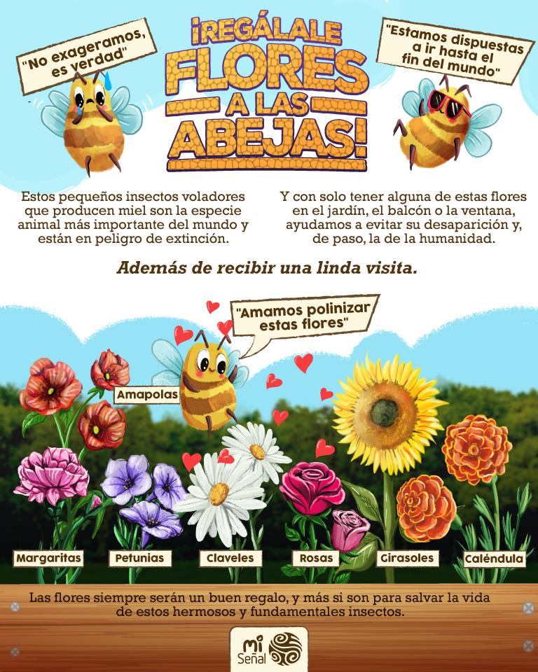 Las flores favoritas de las abejas