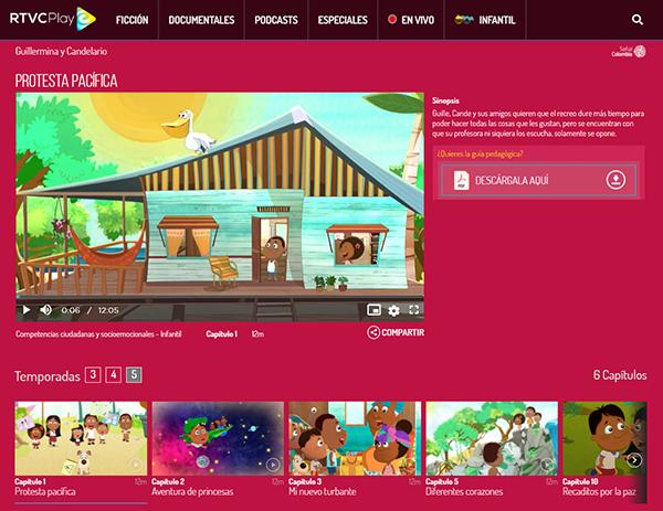 Captura sección educación RTVCPlay