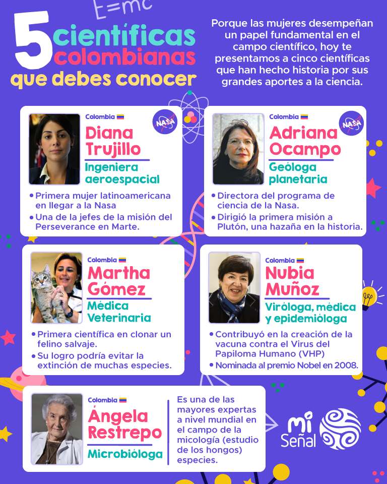 Mujeres científicas colombianas