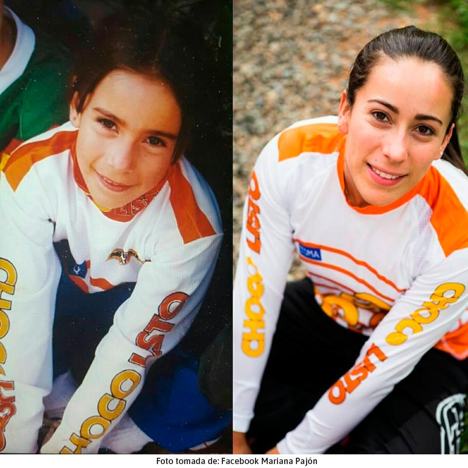 Mariana Pajón cuando era niña