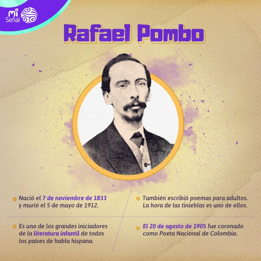 Imagen de Rafael Pombo con datos de su biografía
