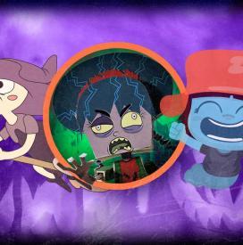 Zombies, vampiros y criaturas divertidas de Halloween