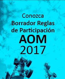 Reglas de participación invitación abierta AOM