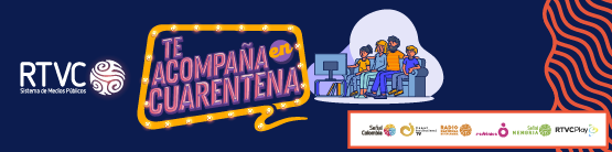 Botón de ingreso a RTVC en cuarentena