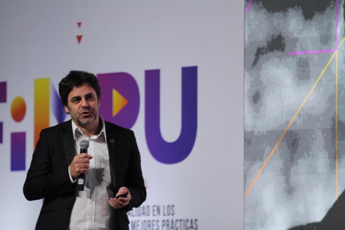 Eduardo Méndez, director de DW Latinoamérica, en el FIMPU 2019