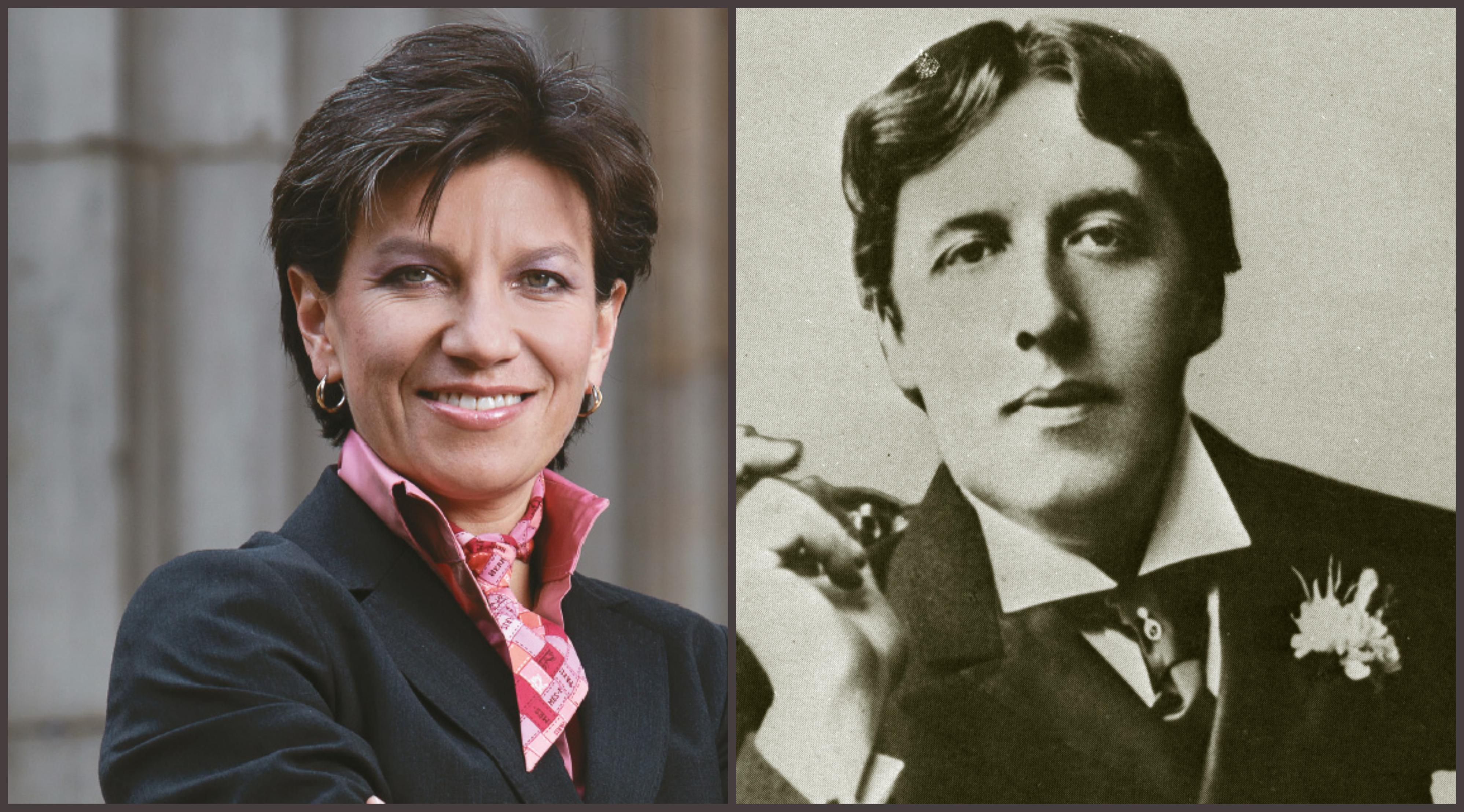 Claudia López y Oscar Wilde