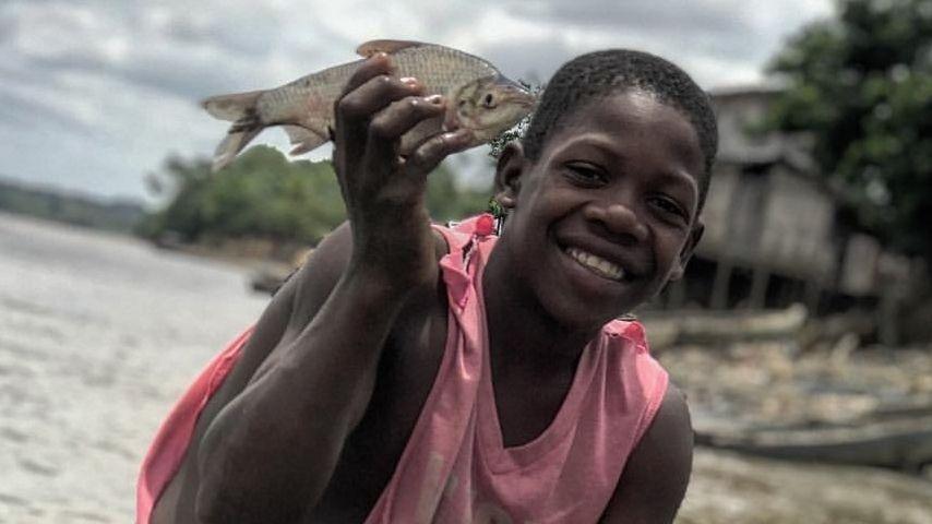 Habitante Choco, Rio atrato pescador. Yeison Riascos
