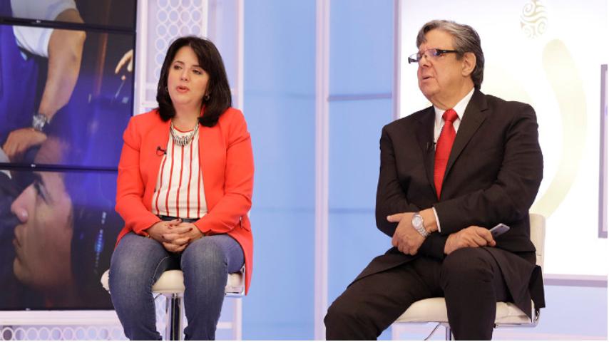 Jose Jorge Dangond gerente RTVC y Adriana Lopez
