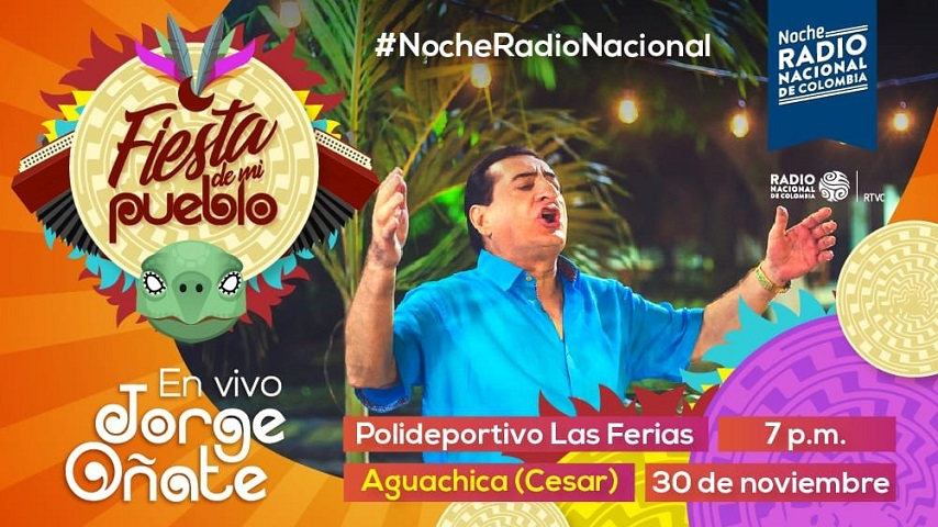 Noche Radio Nacional Aguachica Jorge Oñate