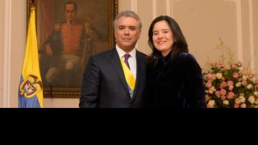 Iván Duque y Sylvia Constaín, RTVC Medios Públicos