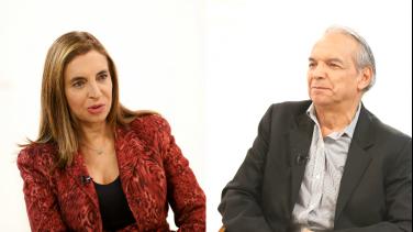 Beatriz Arbeláez y Ricardo Bonilla en Conversemos de Paz