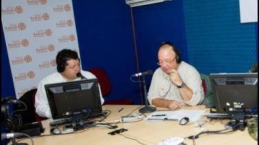 Ministro de Defensa, Luis Carlos Villegas, visita Radio Nacional de Colombia