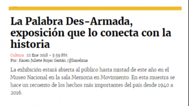 LA PALABRA DES-ARMADA