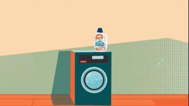 Con la lavadora al fondo