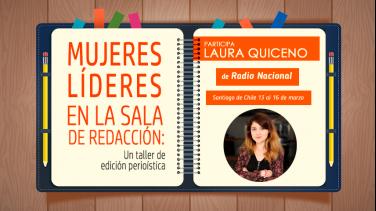 Laura Quiceno partipa en taller de Redacción