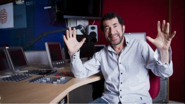 El maestro Willi Vergara en su estudio de Radio Nacional