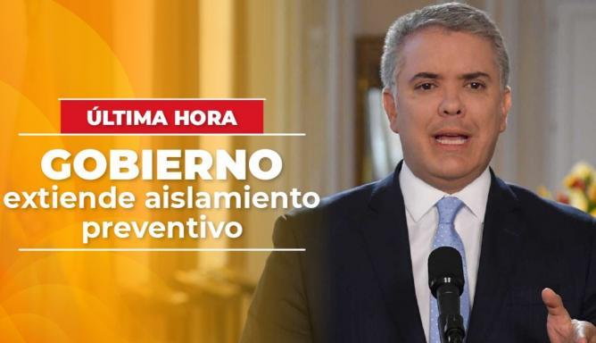 Presidente Duque anuncia nueva extensión de cuarentena