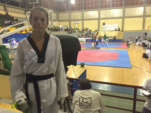 Angie López, taekwondista colombiana