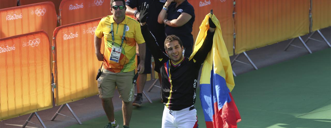 Carlos Ramírez, bicicrosista colombiano /  Comité Olímpico Colombiano