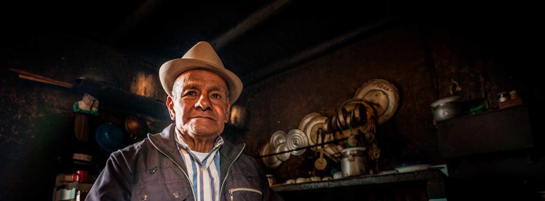 Personaje de la serie documental Ancestral Colombia.