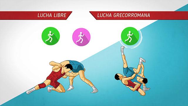 La diferencia entre lucha libre y grecorromana
