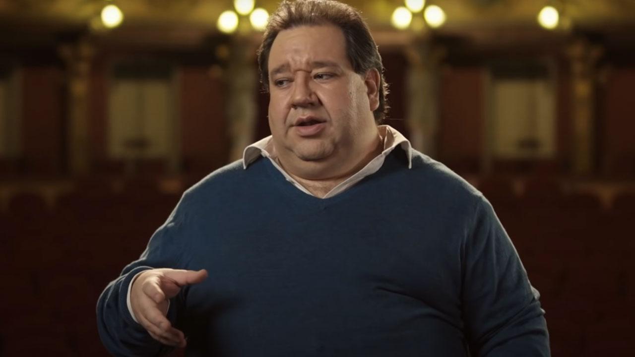 Valeriano Valencia, cantante lírico colombiano, en el Teatro Colón