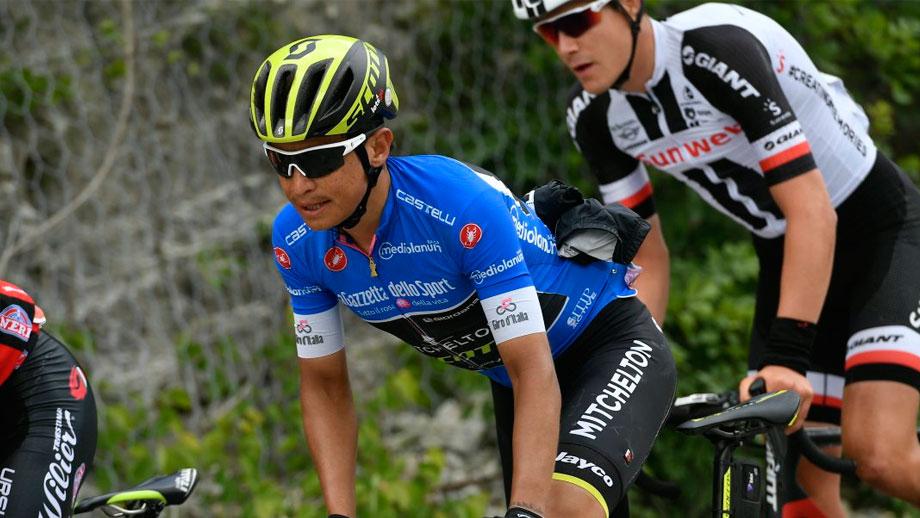 Esteban Chaves durante la décima etapa del Giro de Italia