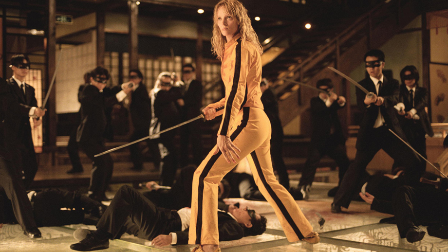 Uma Thurman en escena de acción contra los 'Yakuza' en Kill Bill.