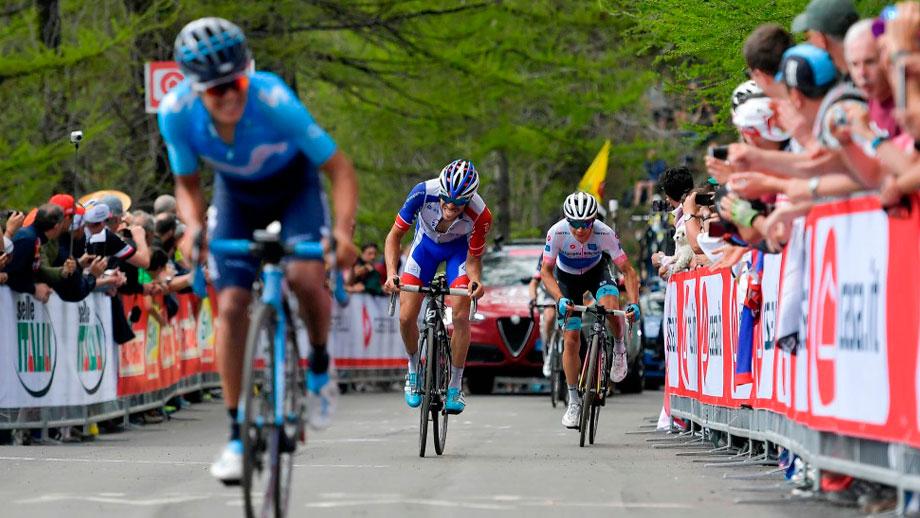 Miguel Ángel López durante la etapa 19 del Giro / Giro Oficial