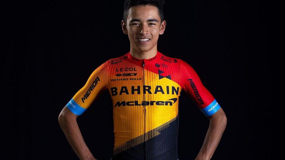 El bogotano Santiago Buitrago correrá su primera carrera como profesional con el Bahrain-McLaren.
