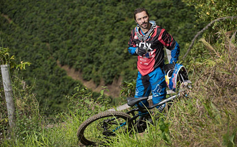 Marcelo Gutiérrez, el rey del Downhill en Colombia.