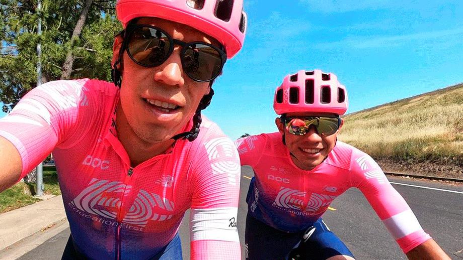 Higuita se mantiene como el mejor colombiano en el Tour de California / Instagram Rigoberto Urán