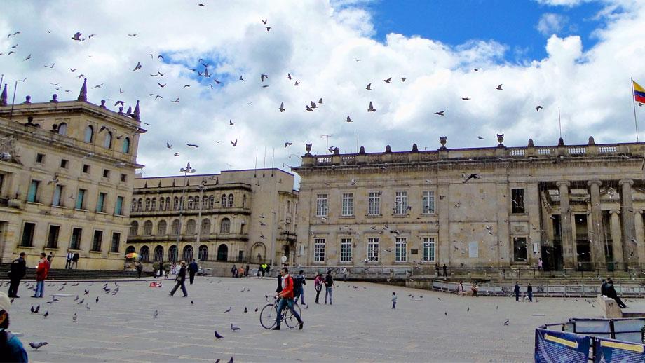 Foto de la Plaza de Bolívar en Bogotá