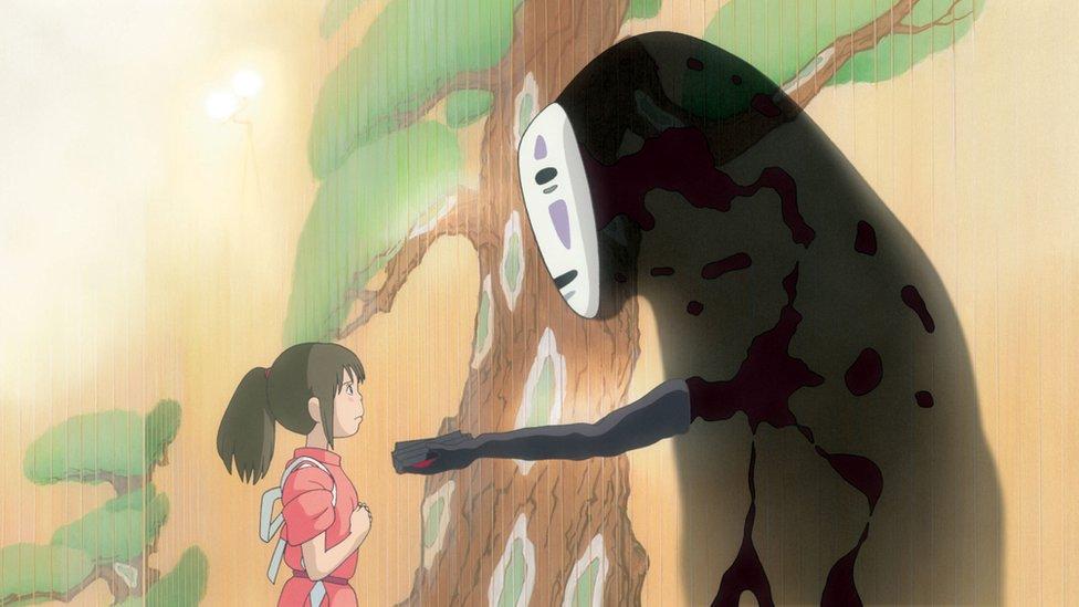 Escena de la película El viaje de Chihiro.