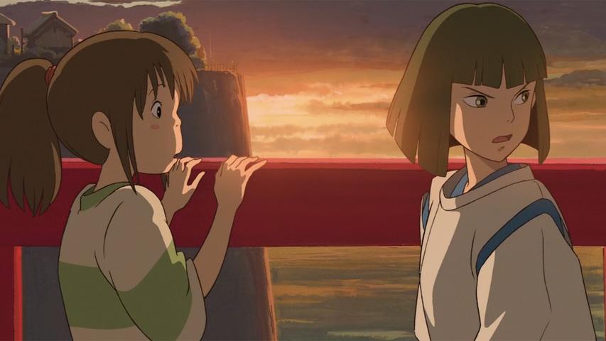 Chihiro y Haku, en una escena de la película El viaje de Chihiro