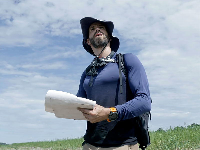 Ricky, depostista extremo, protagonista de Cruzando el Amazonas