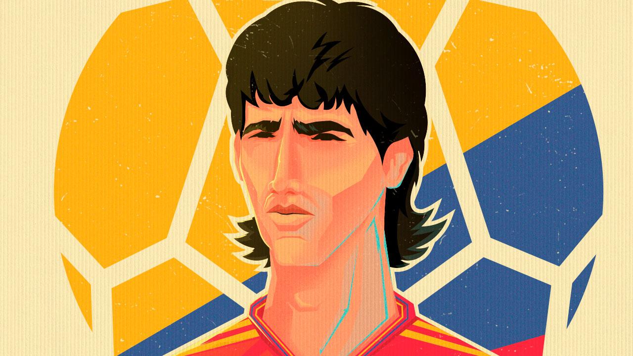 Andrés Escobar, ilustración de Elver Mora.