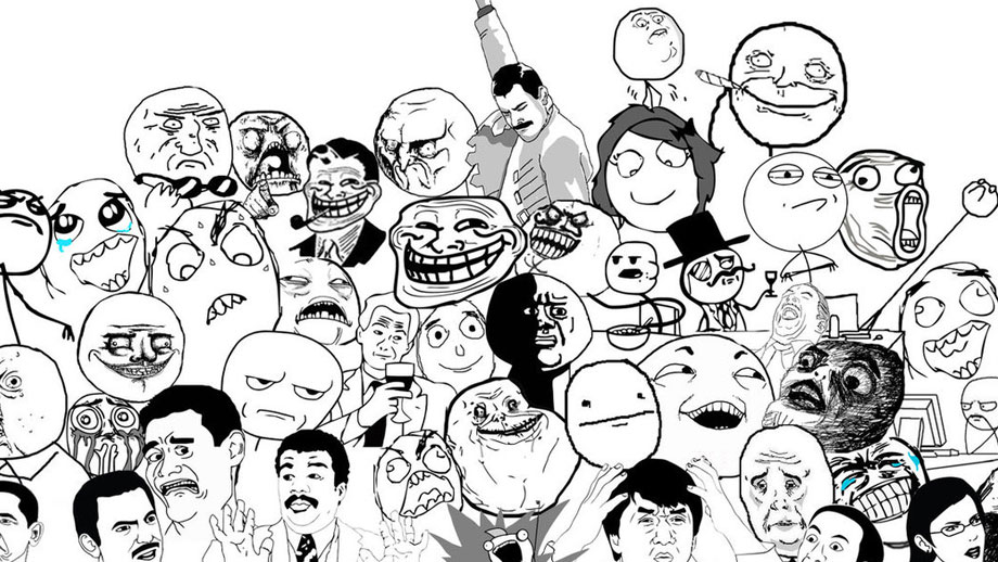 Caras de conocidos memes de internet o Rage Comics