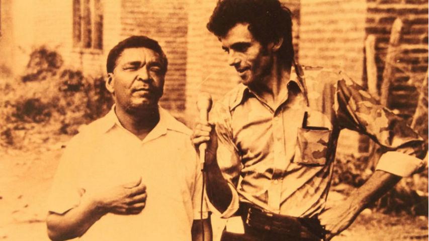 Leandro Díaz junto a Gustavo Gutiérrez en la década de 1970.