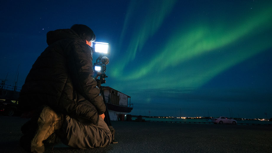 """Aurora boreal en la serie """"Hijos de las estrellas 2"""""""