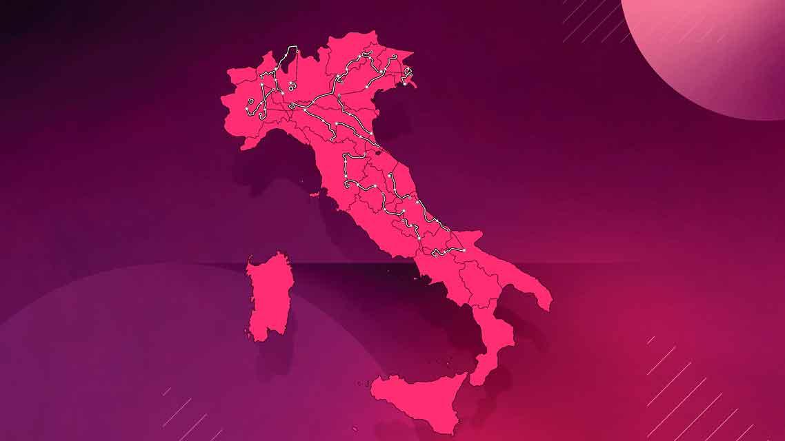 Así será el recorrido del Giro de Italia 2021